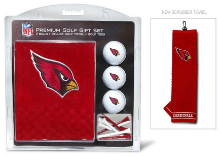 Arizona Cardinals Golf Balls, Golf Tees, and Embroidered Towel Set (30020 Team Golf) photo
