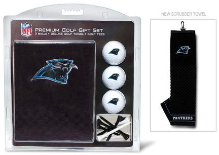 Carolina Panthers Golf Balls, Golf Tees, and Embroidered Towel Set (30420 Team Golf) photo