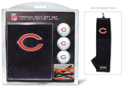 Chicago Bears Golf Balls, Golf Tees, and Embroidered Towel Set (30520 Team Golf) photo