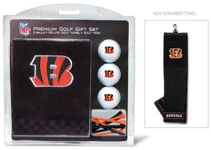 Cincinnati Bengals Golf Balls, Golf Tees, and Embroidered Towel Set (30620 Team Golf) photo