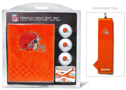 Cleveland Browns Golf Balls, Golf Tees, and Embroidered Towel Set (30720 Team Golf) photo