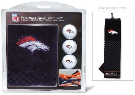 Denver Broncos Golf Balls, Golf Tees, and Embroidered Towel Set (30820 Team Golf) photo