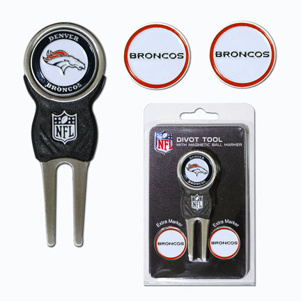 Denver Broncos Signature Divot Tool Golf Gift Pack