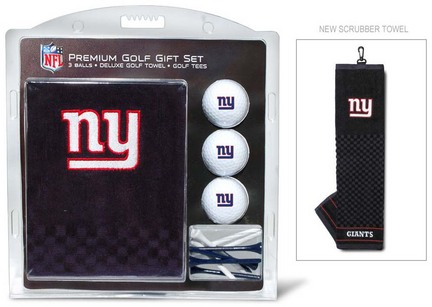 New York Giants Golf Balls, Golf Tees, and Embroidered Towel Set