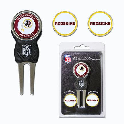 Washington Redskins Signature Divot Tool Golf Gift Pack