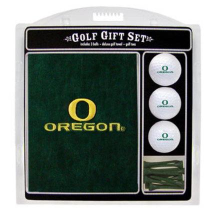Oregon Ducks Golf Balls, Golf Tees, and Embroidered Towel Set (44420 Team Golf) photo