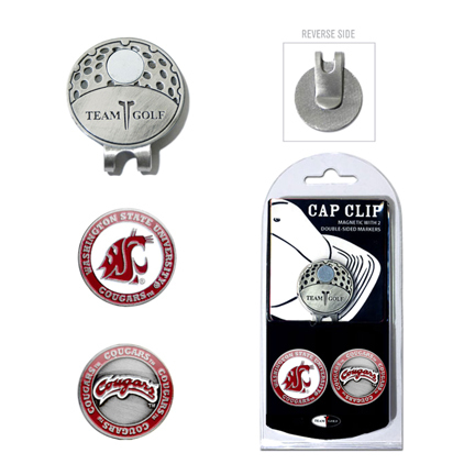 Washington State Cougars Golf Marker and Cap Clip Pack
