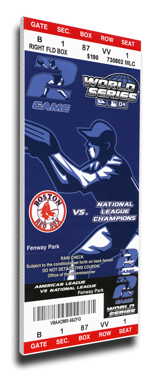 2004 Boston Red Sox World Series Mega Ticket TMT-BBOSMT04WS