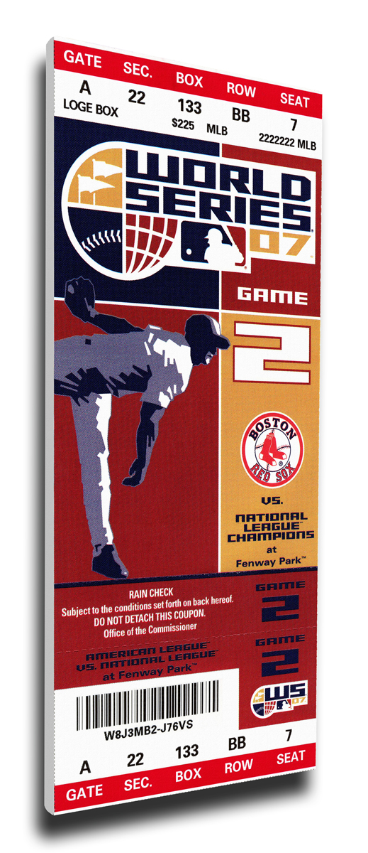 2007 Boston Red Sox World Series Mega Ticket