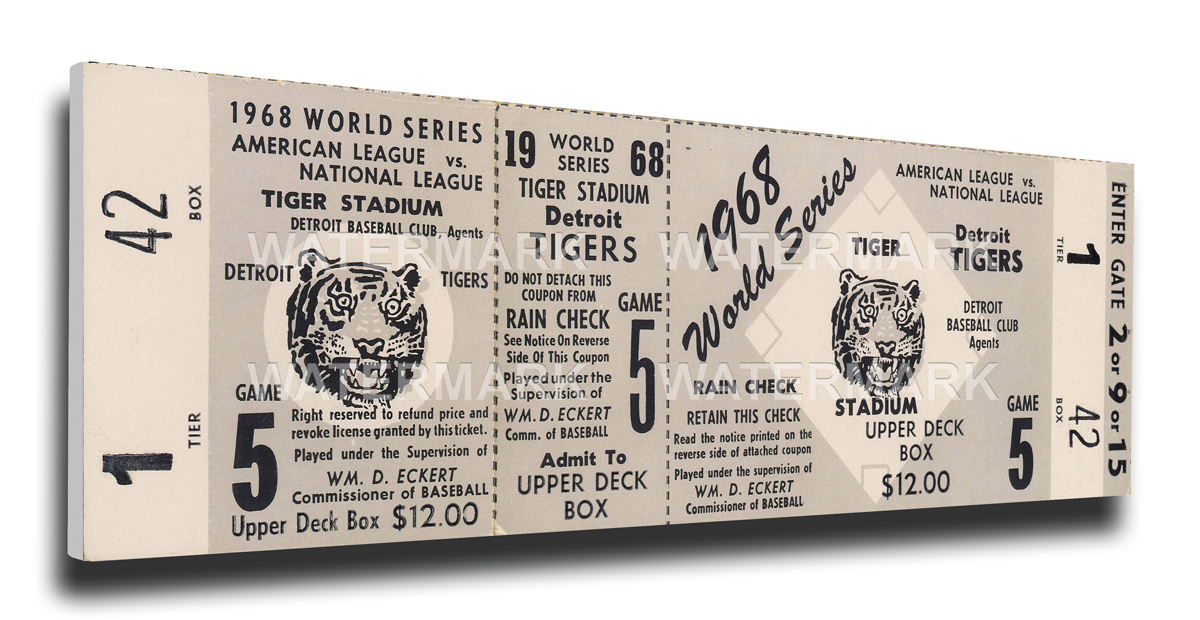 1968 Detroit Tigers World Series Mega Ticket
