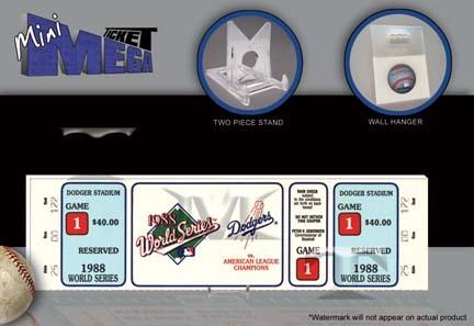1988 Los Angeles Dodgers World Series Game 1 Mini-Mega Ticket