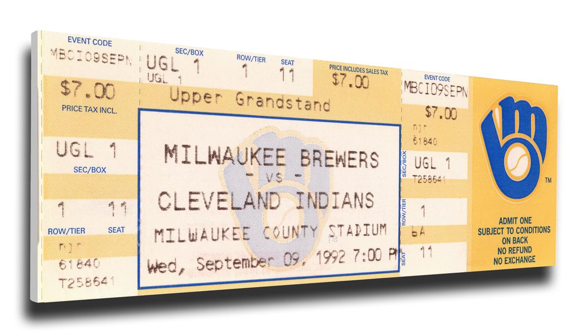 Robin Yount Milwaukee Brewers 3,000 Hit Mega Ticket