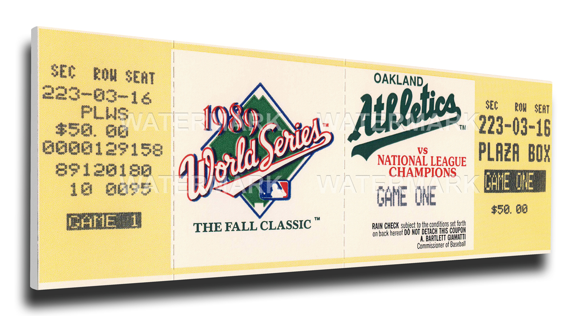 1989 Oakland Athletics World Series Mega Ticket