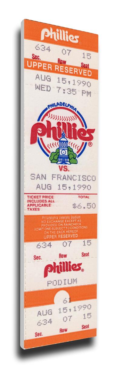 Terry Mulholland Philadelphia Phillies No-Hitter Mega Ticket