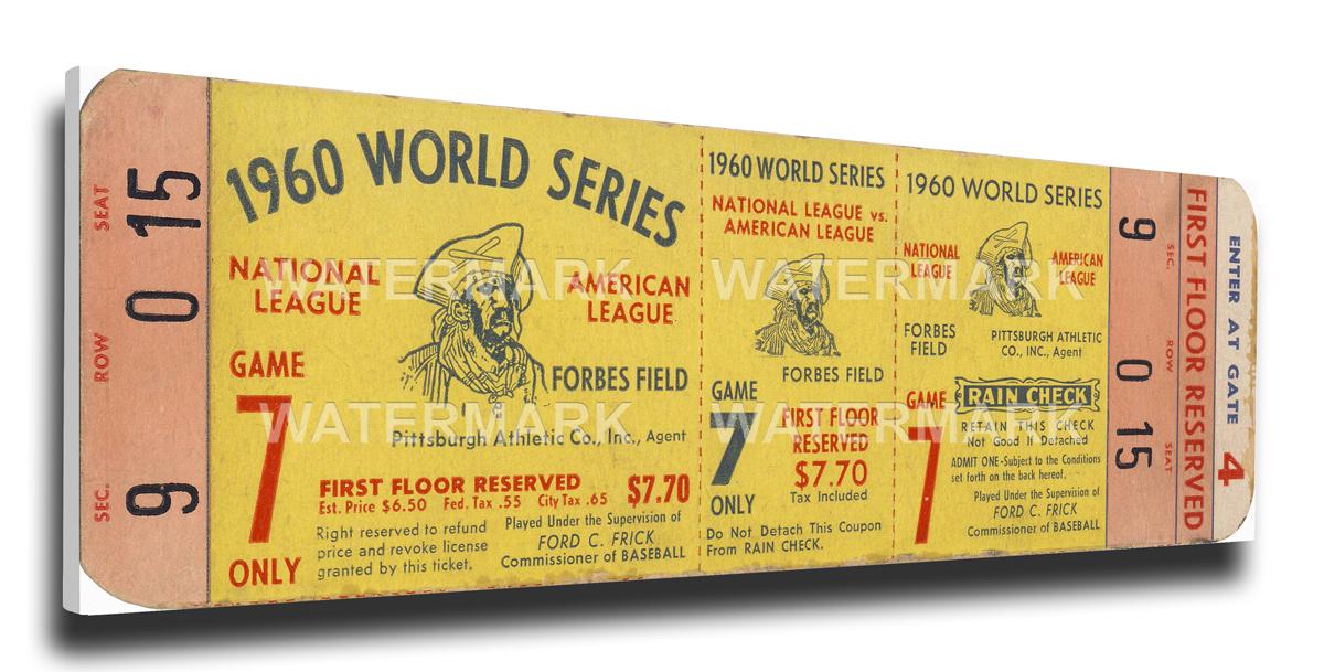 1960 Pittsburgh Pirates World Series Mega Ticket