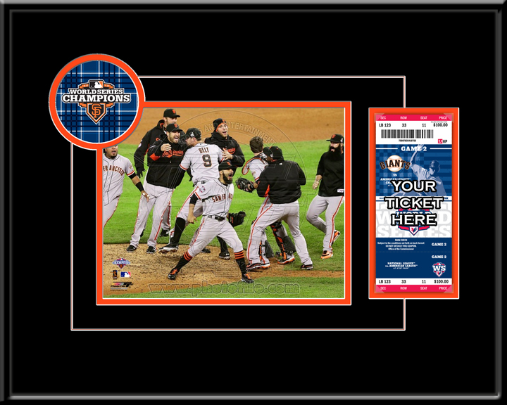 "San Francisco Giants 2012 World Series Champions 8"""" x 10"""" Photograph and Ticket Frame"" NV-TMT-BSFGT812WS"