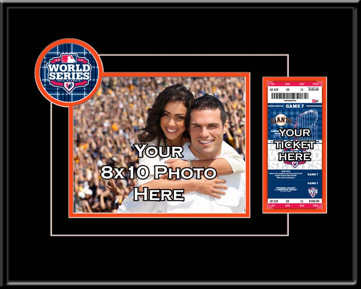 """San Francisco Giants 2012 World Series Champions 8"""""""" x 10"""""""" Your Photograph and Ticket Frame"""" TMT-BSFGT812WSY"""