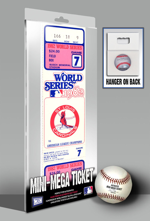 1982 St. Louis Cardinals  World Series Game 7 Mini-Mega Ticket