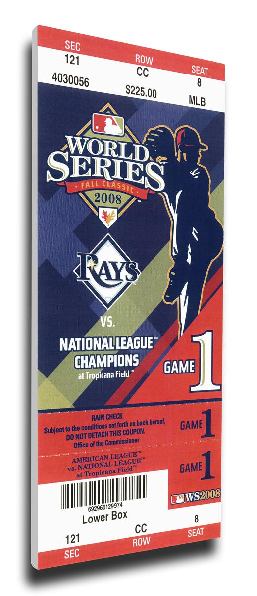 2008 Tampa Bay Rays World Series Mega Ticket TMT-BTBRMT08WS