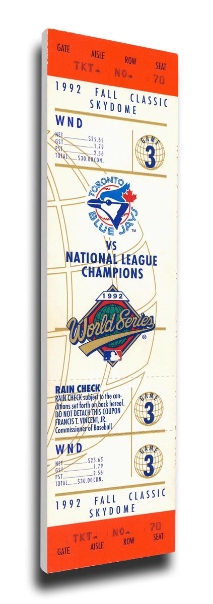 1992 Toronto Blue Jays World Series Mega Ticket