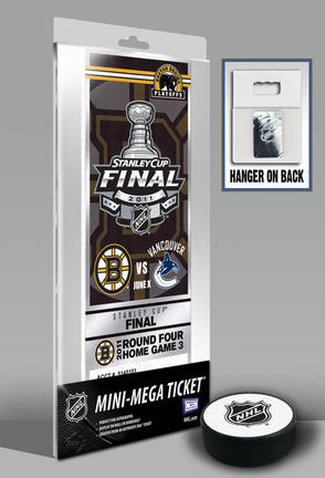 Boston Bruins 2011 Stanley Cup Commemorative Mini-Mega Ticket TMT-HBOSMM11SC