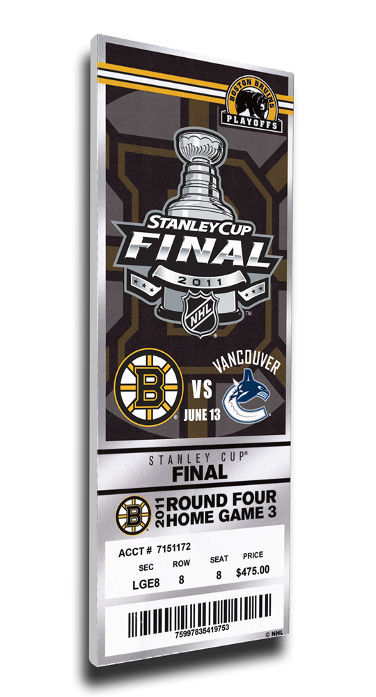 Boston Bruins 2011 Stanley Cup Commemorative Mega Ticket TMT-HBOSMT11SC