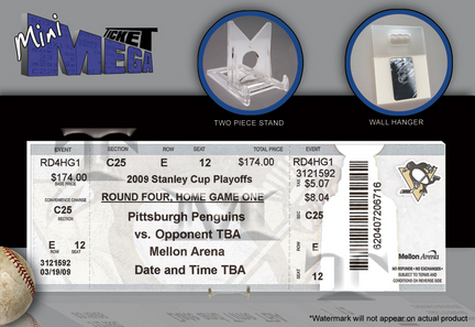 Pittsburgh Penguins 2009 Stanley Cup Champions Mini-Mega Ticket TMT-HPITMM09SC