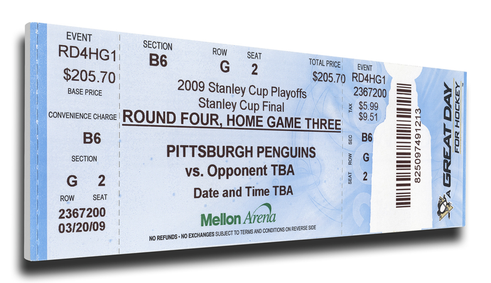 Pittsburgh Penguins 2009 Stanley Cup Champions Mega Ticket TMT-HPITMT09SC