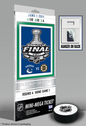 Vancouver Canucks 2011 Stanley Cup Commemorative Mini-Mega Ticket TMT-HVANMM11SC