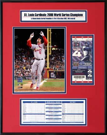 "Sporting Goods Stores Albert Pujols St. Louis Cardinals ""2006 World Series"" Ticket Frame Junior"