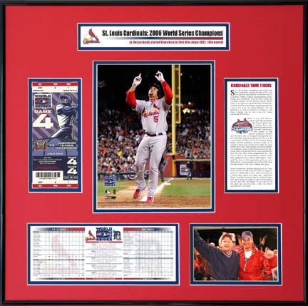 Sporting Goods Stores Albert Pujols St. Louis Cardinals 2006 World Series Ticket Frame