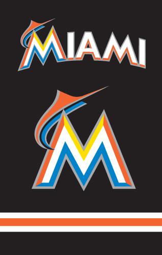 Miami Marlins MLB Applique Banner Flag TPA-AFFLA