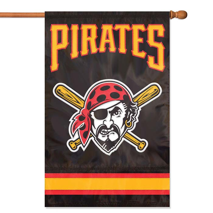 Pittsburgh Pirates MLB Applique Banner Flag TPA-AFPIP
