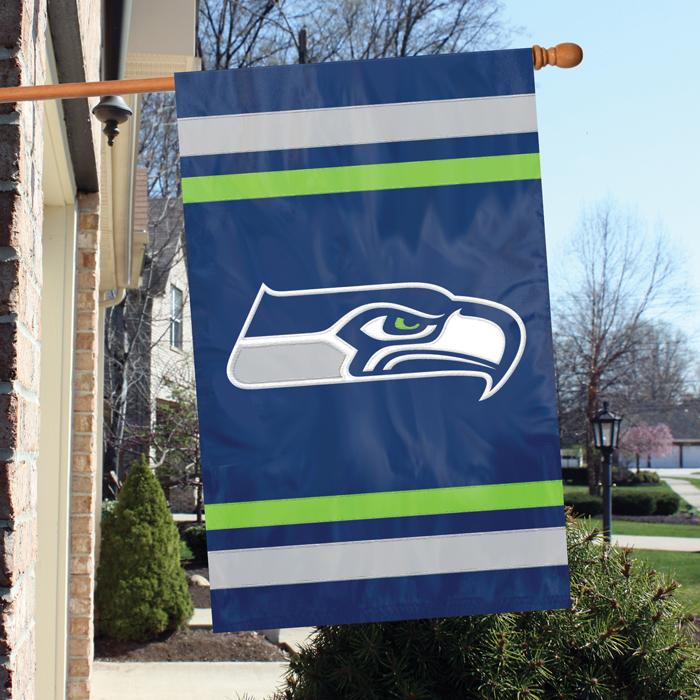 Seattle Seahawks NFL Applique Banner Flag TPA-AFSE