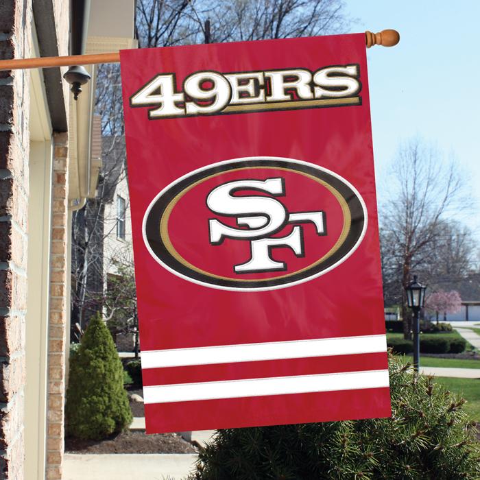 San Francisco 49ers NFL Applique Banner Flag