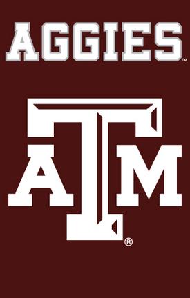 Texas A & M Aggies NCAA Applique Banner Flag