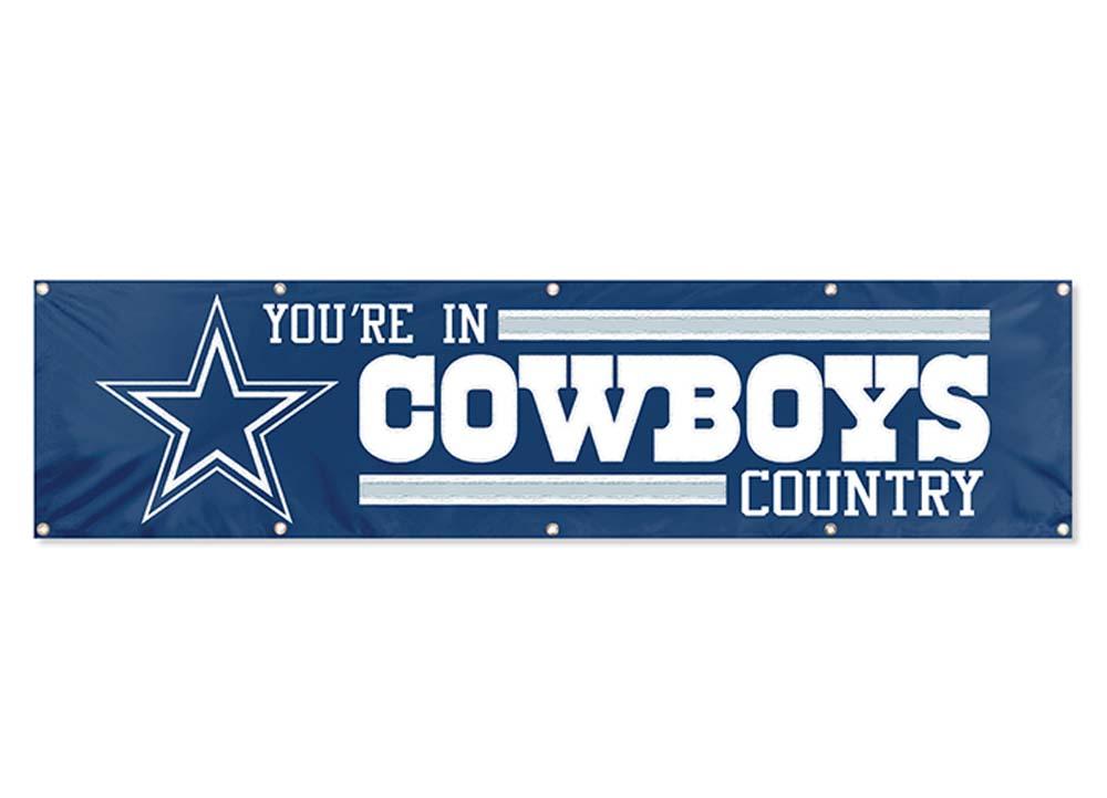 Dallas Cowboys NFL 8-Foot Banner