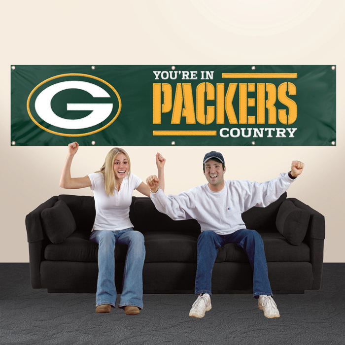 Green Bay Packers NFL 8-Foot Banner TPA-BGB