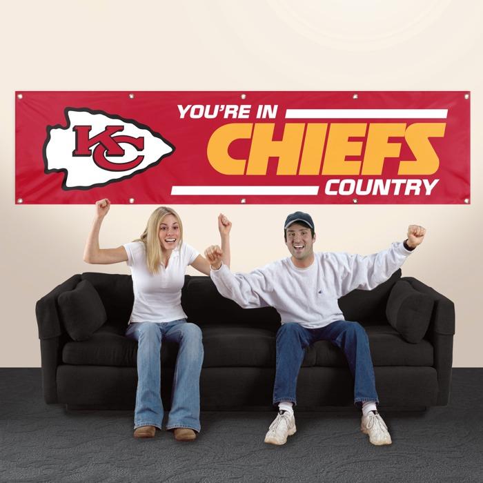 Kansas City Chiefs NFL 8-Foot Banner TPA-BKC
