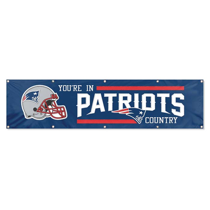 New England Patriots NFL 8-Foot Banner TPA-BNE