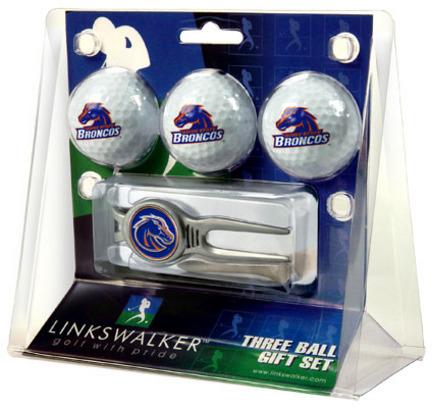 Boise State Broncos 3 Ball Golf Gift Pack with Kool Tool TTU-LW-CO3-BSB-3PKK