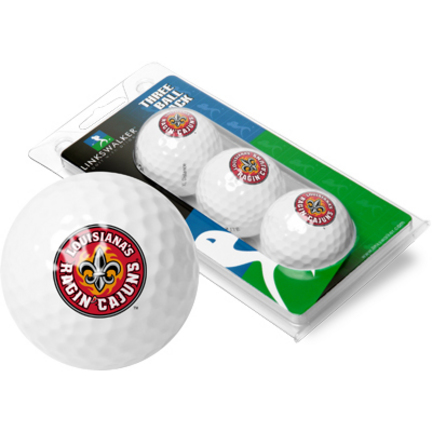 Louisiana (Lafayette) Ragin' Cajuns 3 Golf Ball Sleeve (Set of 3)