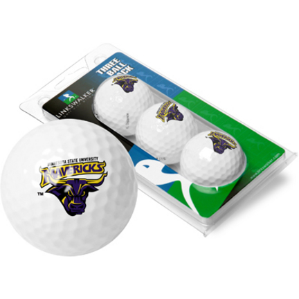 Minnesota State-Mankato Mavericks 3 Golf Ball Sleeve (Set of 3)