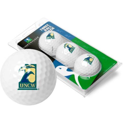 North Carolina (Wilmington) Seahawks 3 Golf Ball Sleeve (Set of 3)