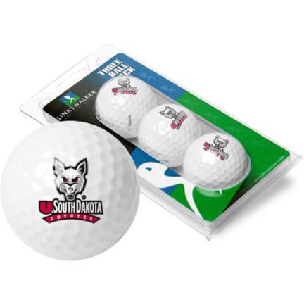 South Dakota Coyotes 3 Golf Ball Sleeve (Set of 3)