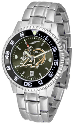 Army Black Knights Competitor AnoChrome Men's Watch with Steel Band and Colored Bezel