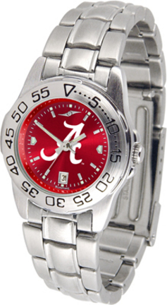 Alabama Crimson Tide Sport AnoChrome Ladies Watch with Steel Band