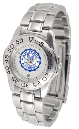 Air Force Academy Falcons Gameday Sport Ladies' Watch with a Metal Band