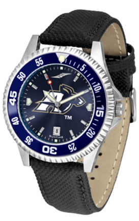 Akron Zips Competitor AnoChrome Men's Watch with Nylon/Leather Band and Colored Bezel