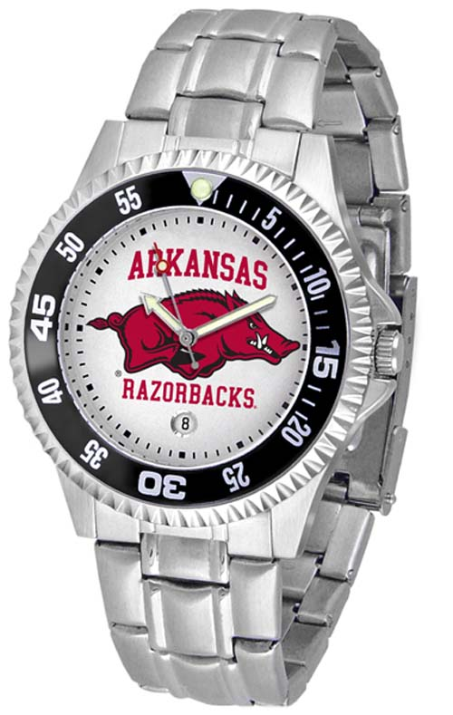 Arkansas Razorbacks Competitor Watch with a Metal Band